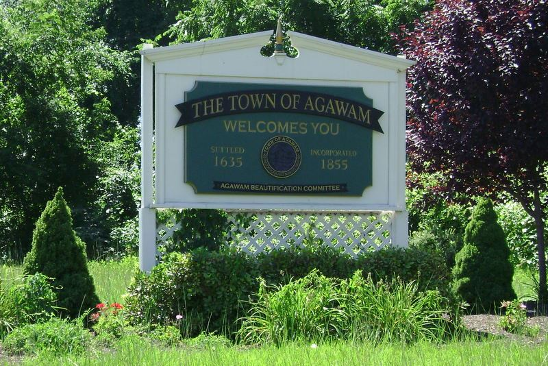 Welcome Town of Agawam sign