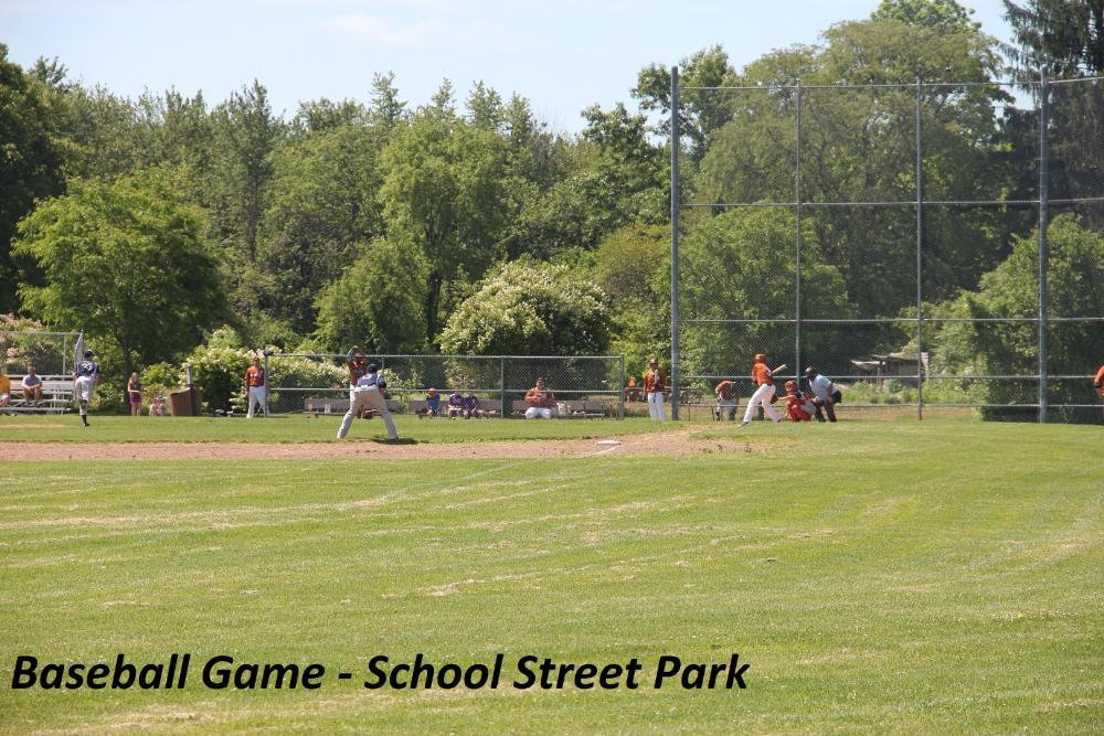 Baseball Game at School Street Park