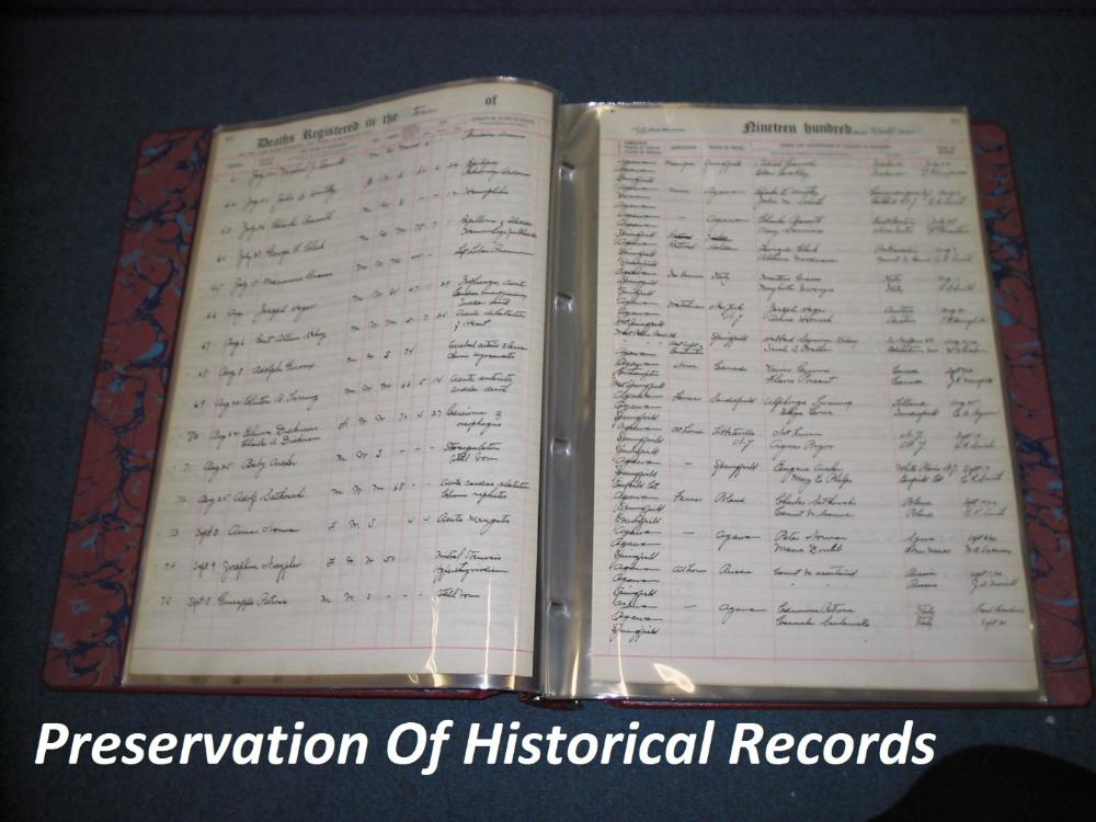 Preservation of Historical Records