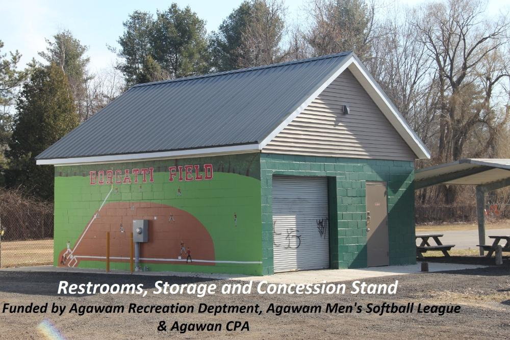 Restrooms, Storage and Concession Stand at Borgath Field