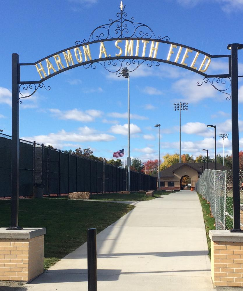 Harmon A. Smith Field arch way
